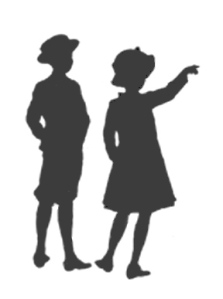 silhouette-of-children
