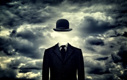 Anonymous businessman with bowler hat