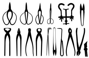 Bonsai tools shapes